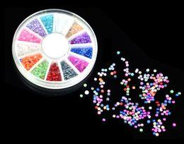 Wholesale 10set MM Hemisphere Beads Nail Art Rhinestones UV Gel Acrylic System Nail Art Tips Decoration Wholesale10908