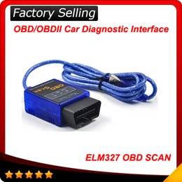 Wholesale 2016 Super mini elm Auto code reader OBD SCAN car diagnostic tool interface ELM327 USB interface V2 version