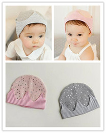 Wholesale 2016 Cute Warm Baby Hat Knitted Cotton Beanie Cap for Baby Toddler Boy and Girls Stars Printed Hat Newborn Hats Caps