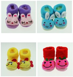 Wholesale Cute Socks Price - Best price Warm socks stereo Terry no dispensing modeling socks Cartoon baby socks baby socks winter models cute doll socks 12pairs 24pcs