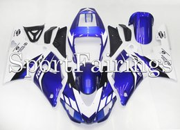Canada Capots d'injection pour Yamaha YZF1000 YZF R1 98 99 1998 1999 ABS Carénages en plastique Moto Carénage Complet Kit Carénages Carrosserie Bleu Blanc supplier yzf r1 1999 blue white Offre
