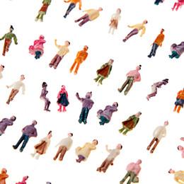 Figuras de la gente modelo en Línea-Nueva ABS plástico Mini Modelo Personas 100pcs N Escala 1: 150 Mix Pintado Modelo Tren Park Street Pasajero Figuras