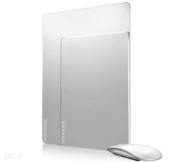 Wholesale Metal Mouse Pad Surface Aluminium Alloy Mouse Mat Silicone Back Simplicity Cool Slimer Mouse pads for macbook pc