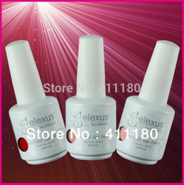 Wholesale-Free Shipping 12Pcs lot (You choose 12pcs) 100% Brand New Gelexus Soak Off UV LED Nail Gel Polish Total 343 Fashion Colors