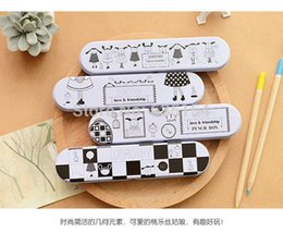 Wholesale pack Cute Pen amp Pencil Case YF14 Dorothy Strip Small Stationery Cute Tin Pencil Box For School Office