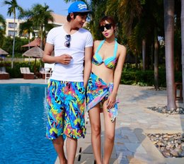 Wholesale-2015 men and women shorts lovers beach shorts casual shorts quick-drying fabric multi-colored