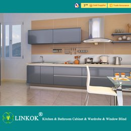 Wholesale Linkok Furniture modern black lacquer kitchen cabinets and affordable modern kitchen cabinets and lacquer spray paint kitchen cabinets