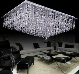 Free shipping new square K9 crystal bead ceiling chandelier modern home lighting L800*W600*h350cm