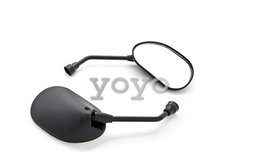 Universal Motorcycle Cruiser Scooter Moped ATV Mirrors BlackKawasaki Cruisers, Electric Scooters side