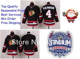 Wholesale 20152014 Stadium Series Chicago Blackhawks Ice Hockey Jerseys Niklas Hjalmarsson Black Red Jersey New Arrival