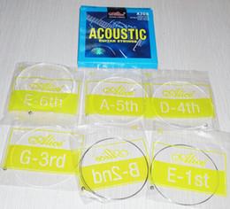 Livraison gratuite 60pcs / 10 ensembles Alice A308 (.011-.052) super légère tension d'acier revêtu plaqué d'alliage de cuivre Wound guitare acoustique cordes à partir de guitares à cordes de super fabricateur