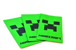 Wholesale Minecraft Creeper Popcorn bag Food bag party bag a