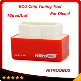 Wholesale 10pcs Plug and Drive OBD2 Chip Tuning Box Performance NitroOBD2 Chip Tuning Box for Diesel Cars DHL free