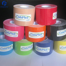 Wholesale 400pcs cm m sports physiotherapy tape armfuls tape bandage roll kinesiology tape kinesio sports tape medical dressings shop