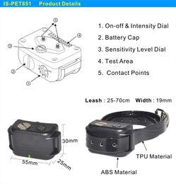Wholesale newest automatic no Barking collars waterproof bark control training device PET