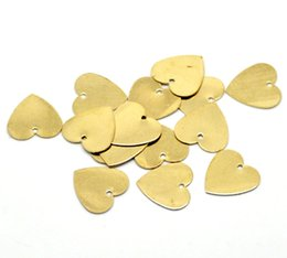 Wholesale-hot- 100PCs Brass Blank Stamping Tags Pendants Love Heart for Necklaces,Earrings,Bracelets etc (B18581)