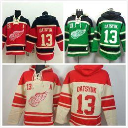 2016 New, Free Shipp. Detroit Red wings Hoody #13 Pavel Datsyuk Ice Hockey Hoodies  Hooded Sweatshirt