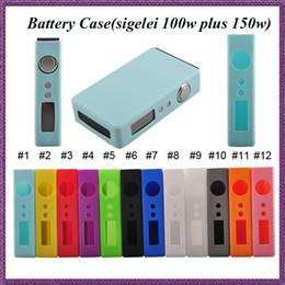 El caso barato del sigelei del silicón para sigelei 100w más la mini batería del caso 150w 12 colores cubre la caja colorida de las cajas del silicio 50w Caja Mod desde mod baterías baratas proveedores