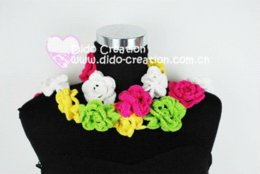 Wholesale S06A001C Handmade Crochet Fashion Long Flower Scarf Shawl100 Cotton M56350 scarf cape scarf butterfly