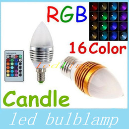 RGB E27 E14 E12 5W Led Cande Lights Frosted Cover 16 Colors Change Led Bulbs Light Silver Golden Shell AC 85-265V + Remote Cont