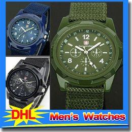 Wholesale Fabric Luxury Fashion Army General Canvas Belt Nylon Watch Sports Mens Watches Waterproof Military Gemius Quartz Wristwatch