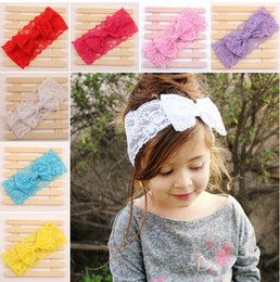 New Arrival Lace Baby Headbands ,Baby Girls Headbands ,Birthday Hair band ,Baby Headwraps With Lace Bow