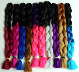 Colorful Super X-pression Jumbo Braiding Hair Ombre Synthetic hair Highlight Braids Hair 10 color braid hair 165g 82cm