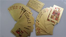 100sets lot Gold foil plated playing card Plastic Poker US dollar   Euro Style and General style With Certificate free ship