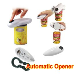 Wholesale Automatic Can Opener One Touch Operation Kitchen Stainless Steel Bottle Openers Wine Cooking Tools Corkscrew