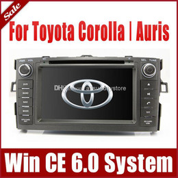 Wholesale 2 Din Car DVD Player for Toyota Auris Corolla w GPS Navigation Radio Bluetooth TV USB SD AUX SWC Map G Audio Video Stereo SatNav