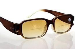 Wholesale R8806 Presbyopic glasses Bifocal Reading glasses Eyewear Brown