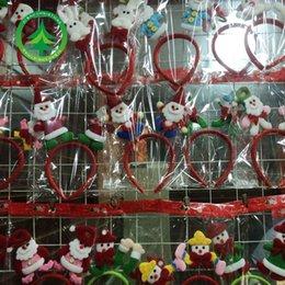 Hei Bao Christmas decoration old velvet headbands Bear Christmas elderly snowman Christmas hair bands hair bands wholesale