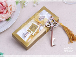 Wholesale 100pcs Antique Victorian key Bottle Opener Wedding Favors and Gift quot Key to My Heart quot Antique gold Bottle Opener