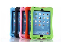 Children Kids Soft Shock Proof Foam Case For iPad Silicone Tablet Covers With Stand