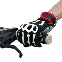 Wholesale Off road racing motorcycle Cycling Bike Bicycle Skeleton Full Finger Cycling Gloves S XXL