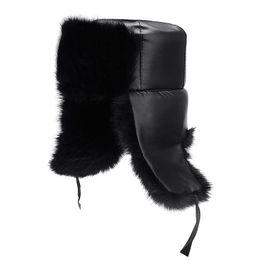 Descuento sombreros trampero Bombardero de la nueva caliente Sombreros de invierno para hombres mujeres Casquillos Trapper ruso Esquí Caps la piel de imitación del sombrero del invierno
