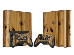 Cool Wooden Style Skin Sticker Vinyl Decals for Xbox 360 E Protective Console Skin+2 Pcs Controller Cover Skin Sticker
