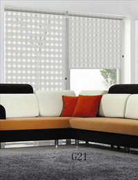 Custom Made Translucent Double Layer Zebra Blinds in White Window Curtains for Living Room 5 colors are Available