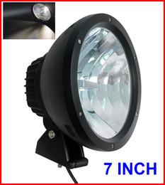 "EMS 2PCS 7"" 50W CREE LED Driving Work Light 2-COB*25W CHIP Offroad SUV ATV 4WD 4x4 Spot Pencil Beam 12 24V 5000lm Xenon White 6K Replace HID"