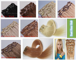"""16""""-22"""" 7pcs Set 16 Clips 100G Clip in Human Hair Extensions INDIAN REMY Clip in Hair Extension,Indian Remy Clip In Hair Extension"""