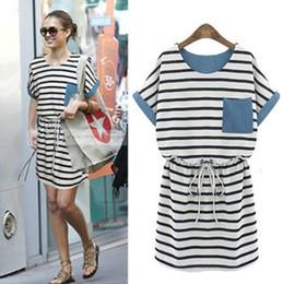 2014 Summer Women Dress New Style Denim Denim Mosaic Slim Dresses Ladies Fashion Casual All-much One-piece Y18