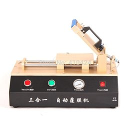 Wholesale New Automatic Vacuum OCA Laminating Machine Polarizer Film Laminator With Built in Air Pump and Compressor for iPhone Samsung