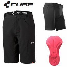 Wholesale MTB Cube shorts DOWNHILL underwear Motorcross men s sports bike riding shorts Cycling Short bicycle trouser