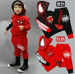 Wholesale Spiderman Children Boys Clothing set Baby Boy Spider man Sports Suits Years Kids Sets Spring Autumn Clothes Tracksuits
