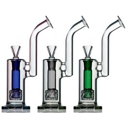 Wholesale sidecar rigs showerhead bubbler Quality Water Bong Glass Ash Catcher Percolator Water Pipes With Splash Guard Tobacco Water Pipes HFY1051