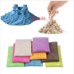 Wholesale 100 BBA5317 color Magic moon sand g BAG DIY make moon sand No mess Indoor outdoor Space Sand Motion sand Play sand Drawing Toys Gifts