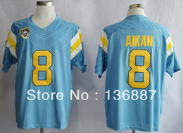 Wholesale Factory Outlet New Style UCLA Bruins Troy Aikman NCAA College Football Techfit Authentic Jerseys Embroidery logo Can Mix Order Jers
