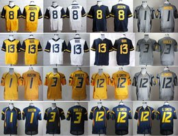 Wholesale Factory Outlet West Virginia Mountaineers Andrew Buie College Jerseys Football Tavon Austin Oliver Luck Stedman Bailey Karl Jos
