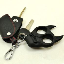 Wholesale Self Defense Tiger Head Novelty Keychain Defend Key Chain Chaveiro Key Ring Holder