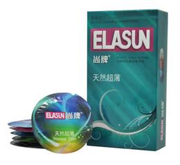 18pcs Male original elasun ultra thin penis sleeve condoms parfum men preservativos natural latex contex condones adult sex toys for man